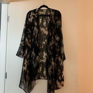 H&M Long Abstract Printed Kimono